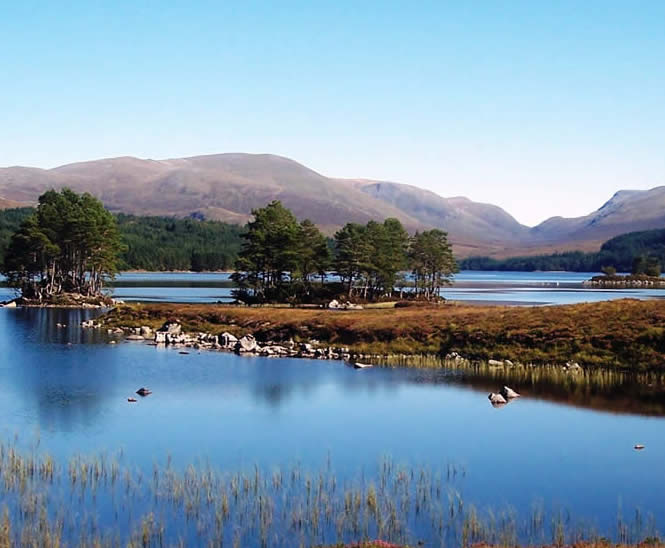 Loch Ossian - private tours Drymen Red Bus Co.