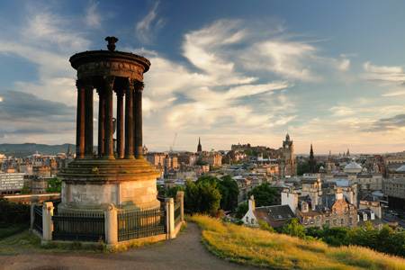 View of Edinburgh fro Calton Hill - private tours Drymen Red Bus Co.